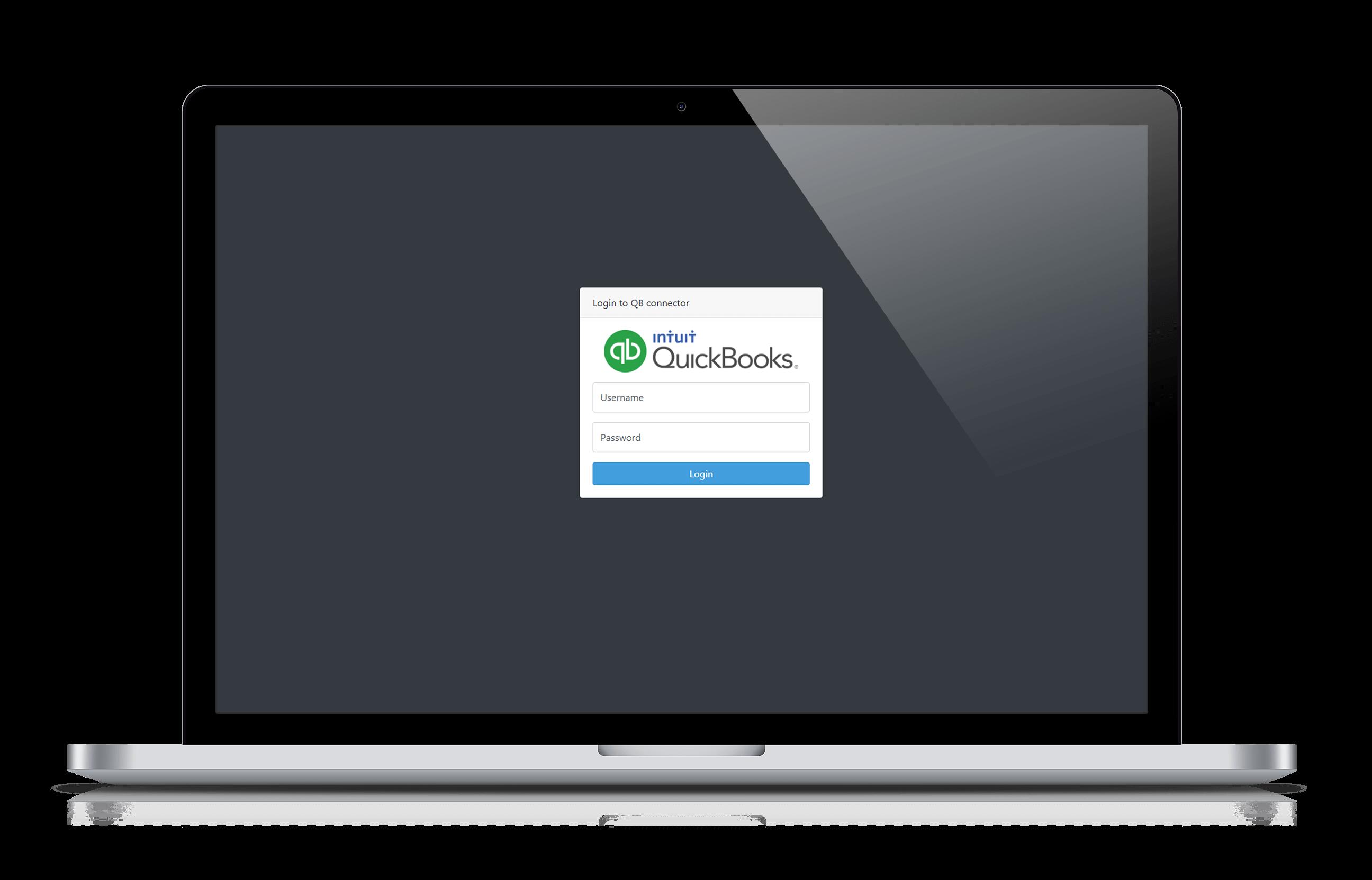 QB connector login page