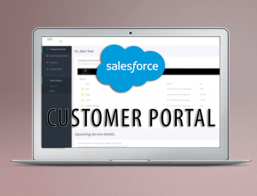 SalesForce Customer Portal – Customer Service Tool connected to CRM