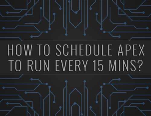 Salesforce | How to schedule apex to run every 15 mins?