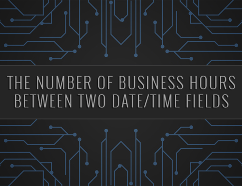 Salesforce | The Number of Business Hours Between Two Date/Time Fields
