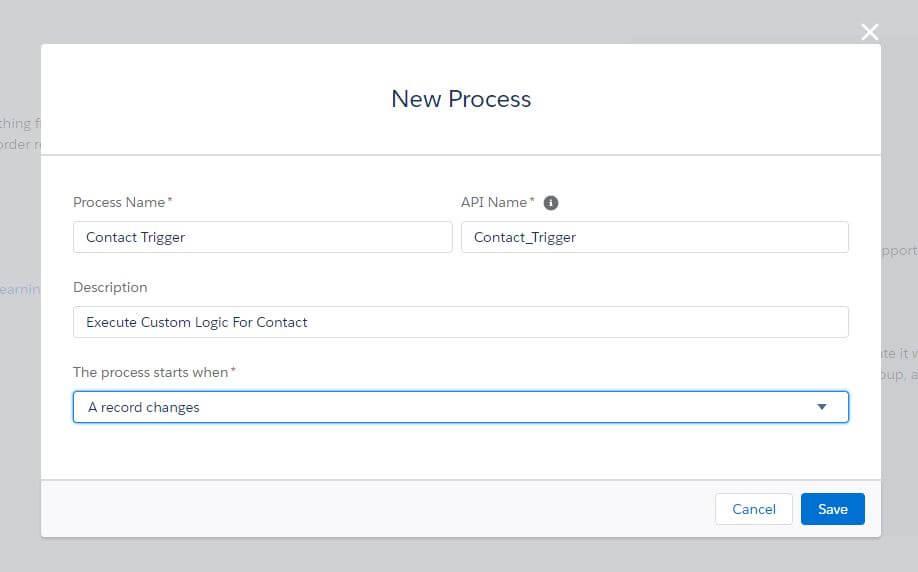 New Process Builder Salesforce