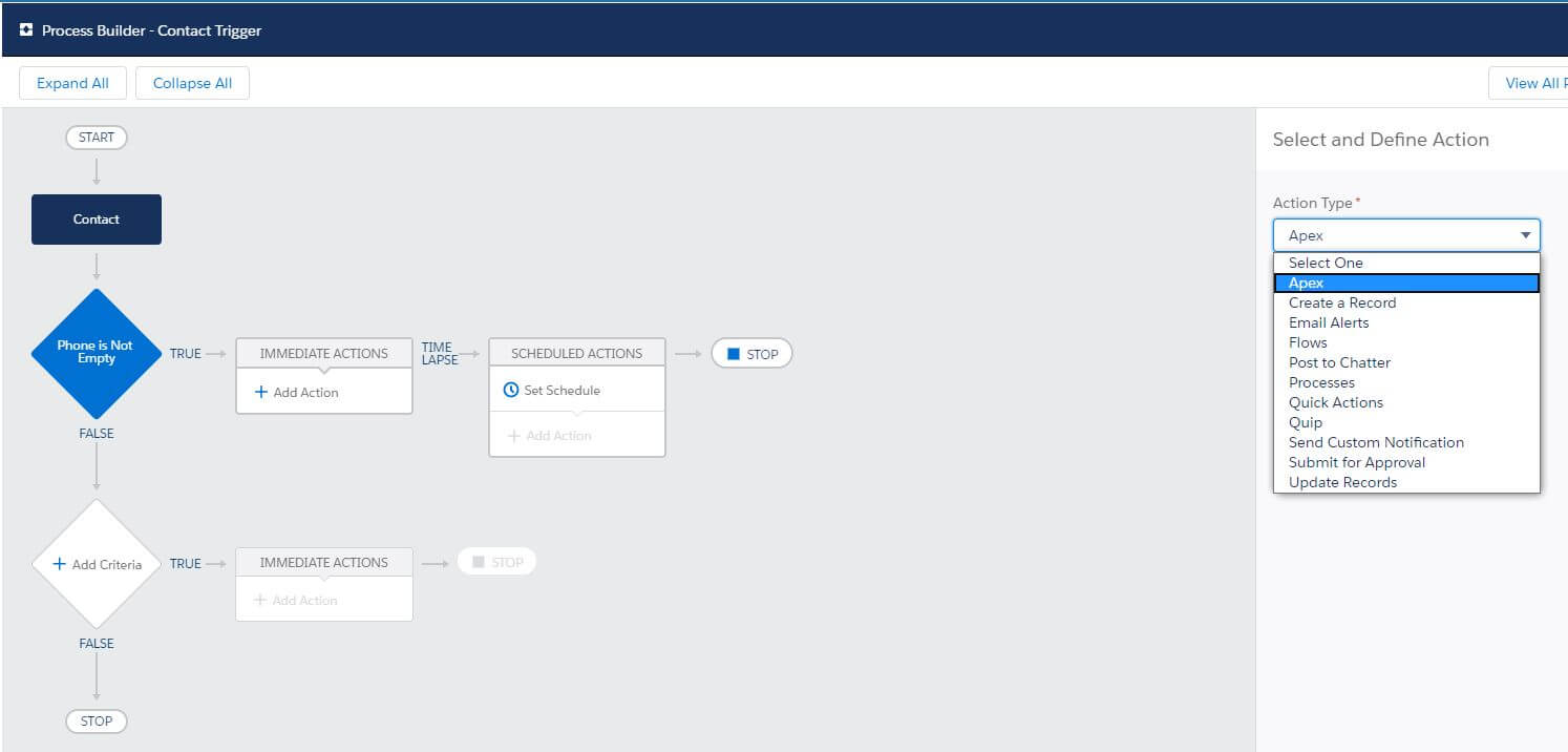 Process Builder Apex Salesforce