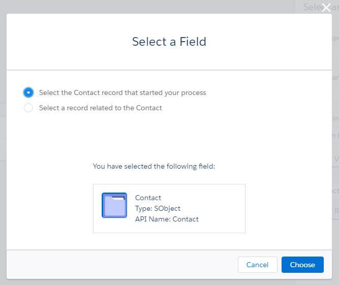 Process Builder Select Record That Started Your Process Salesforce