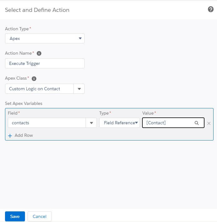 Process Builder Set Trigger Variables Salesforce