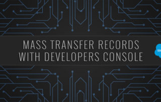 Mass Transfer Records Developers Console Salesforce