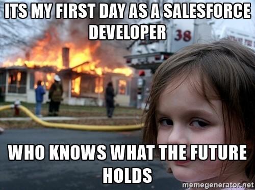 Salesforce Developer Meme